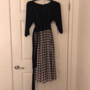 Faux wrap around style dress